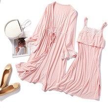 2 шт./компл. для беременных и кормящих Хлопковая пижама Беременность одежда для сна кружевное платье для беременных и кормящих ночная рубашка для беременных Грудное вскармливание Ночная рубашка