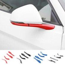 SHINEKA Seite Spiegel Rückspiegel Basis Abdeckung Trimmt Außen Moulding Zubehör Kit ABS für Ford Mustang 2015 + Auto Styling