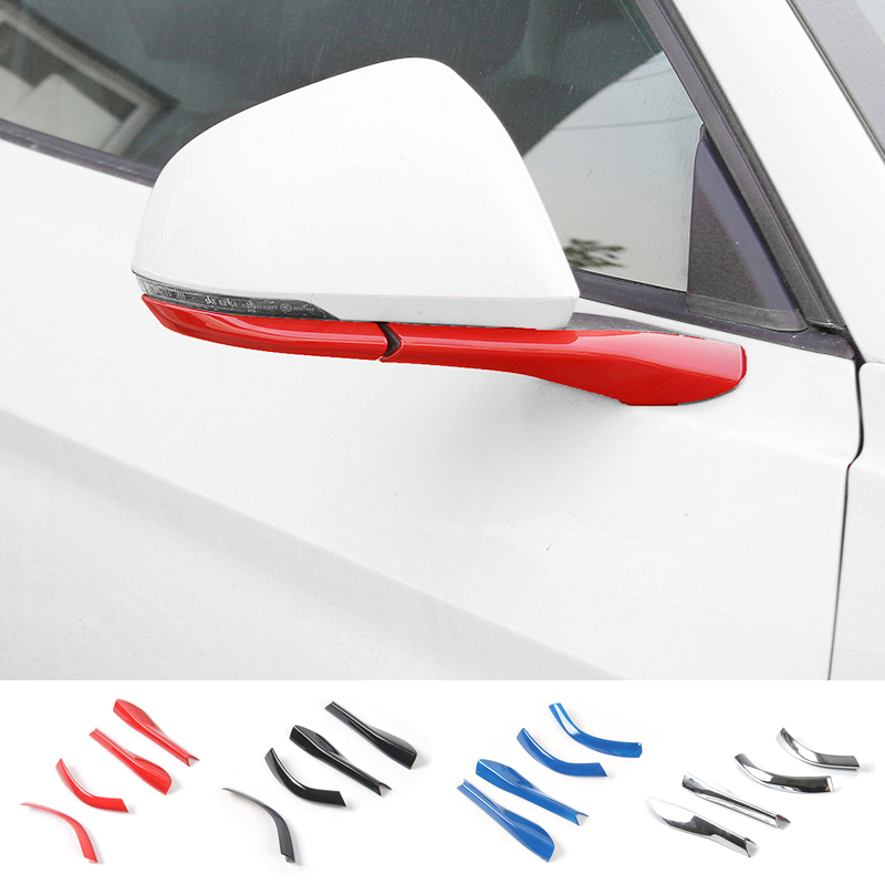 SHINEKA Side Mirror Rearview Mirror Base Cover Trims Exterior Moulding Kit ABS For Ford Mustang 2015+ Car Styling
