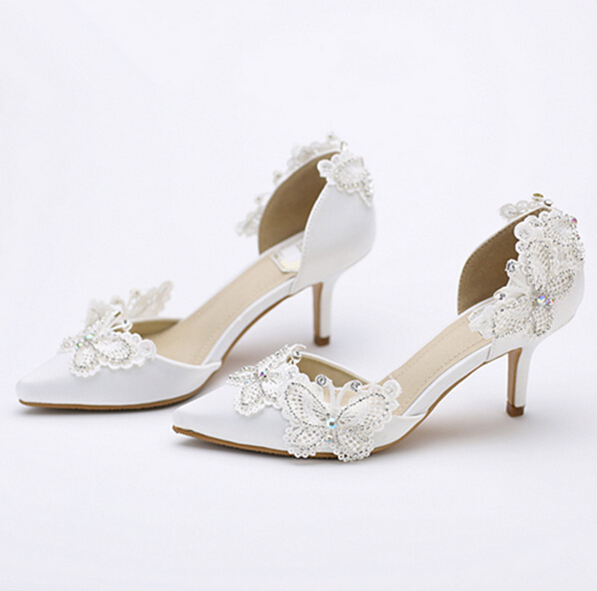 Ivory Lace Wedding Heels Bridal Shoes White Bridesmaid Pumps Mother Of The Bride In Women S From On