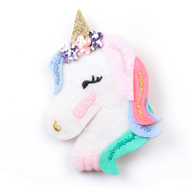 2018 New Unicorn Rainbow Hair Clips Barrettes Baby Girls Cartoon Headband Hairpins Set Horn