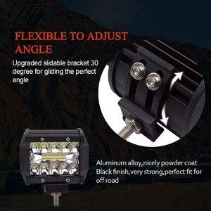 Image 4 - Safego 4 5 pulgadas 60W 72W Barra de luz LED de obra 12V Punto de inundación Chips fuera de carretera 4x4 Luz de niebla luz de conducción lámpara para camión barco paquete 24V
