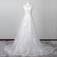 Don S Bridal Hot Sale Customer Made In China White Ivory Lace Dress 2016 Fashion Wedding