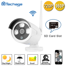 Techage Беспроводной wi-fi 1MP Onvif P2P 720 P 960 P Ip-камеры 3.6 мм P2P Ик-cut Видеонаблюдения Мини Камеры TF Слот Для Карт Памяти
