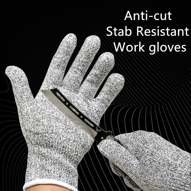 Anti-cut Gloves Butcher Gloves Safety Work Stab Resistant Steel Wire Metal Mesh Kitchen High Elasticity Protect Gloves