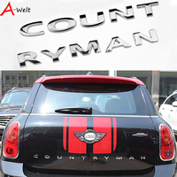 3D Metal Rear Trunk Word Letters Countryman Decal Badge Emblem Logo Car Stickers For BMW Mini