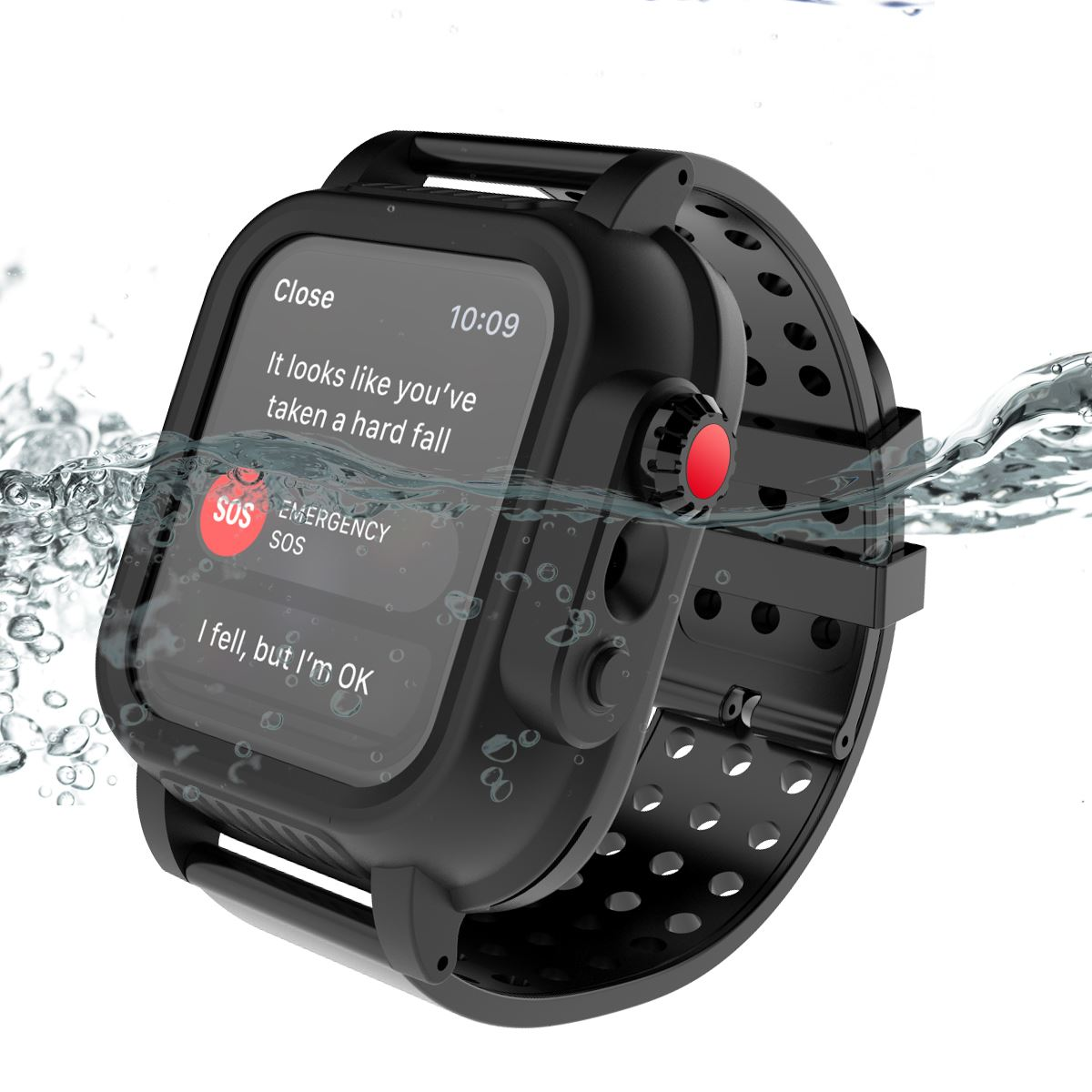 Image 3 - IP68 for Apple iWatch Series 4 40MM Waterproof Watch Case Shockproof Rugged Bumper Hybrid PC Case with Rubber Watch Strap Cover-in Fitted Cases from Cellphones & Telecommunications