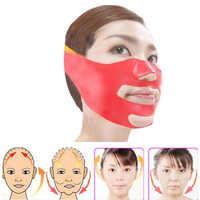 Silicone mince masque Facial v-ligne visage bande de pansement minceur visage jade rouleau soins de la peau visage masseur levage mince outil de massage
