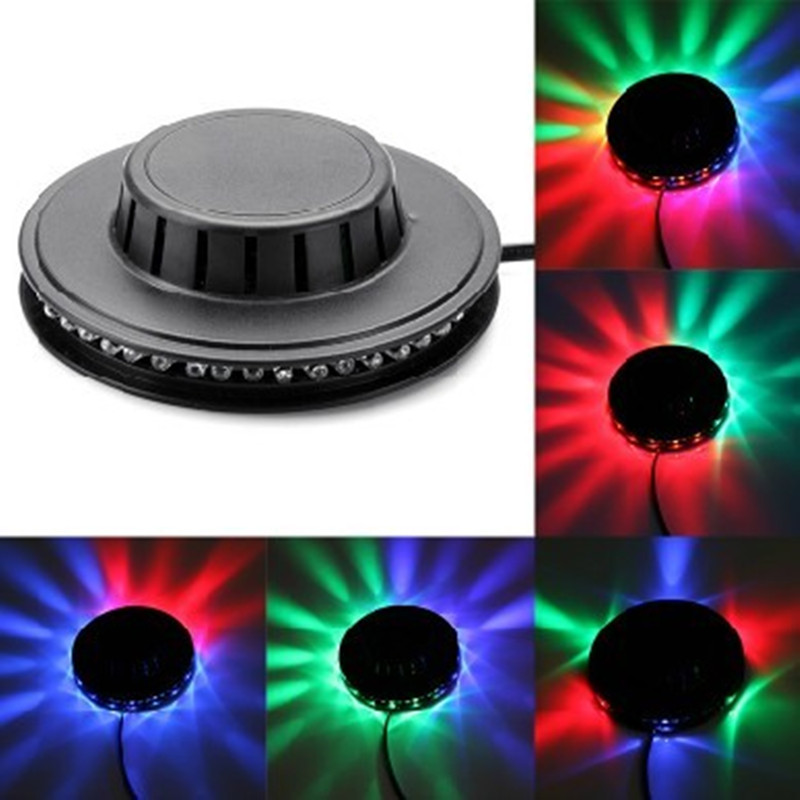8W AC110V-240V Micro Rotating RGB Light 48 LEDs Sunflower LED Stage Light With Retail Package Free Shipping