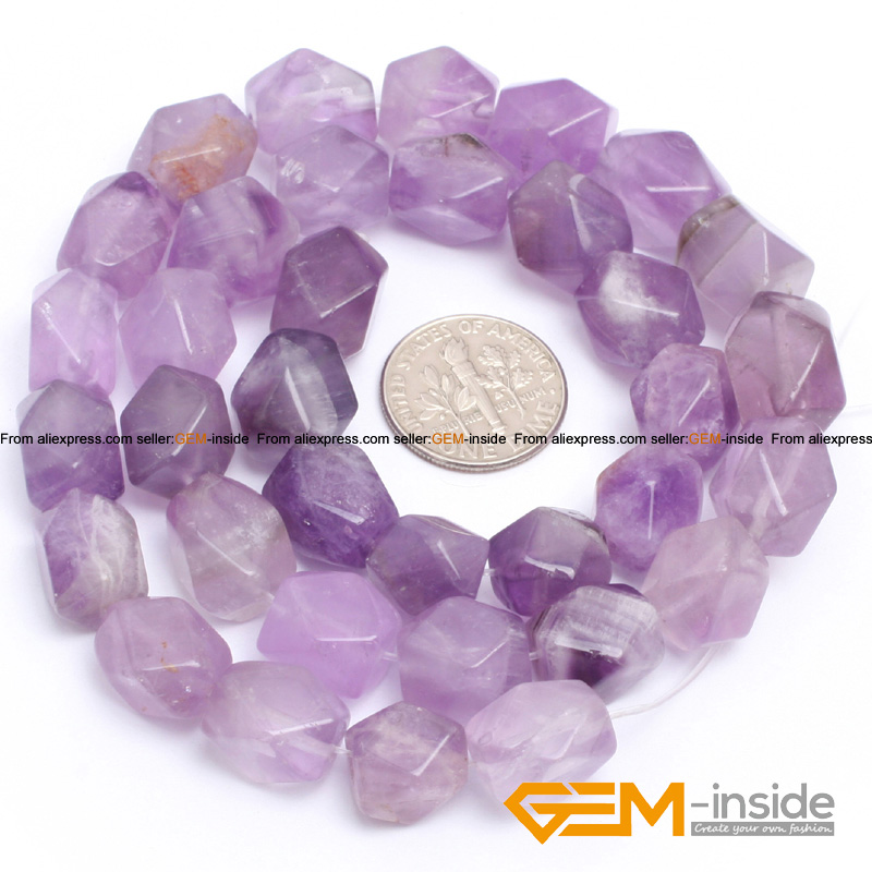 9x11mm cubic faced light amethyst beads natural stone beads DIY loose beads for jewelry making strand