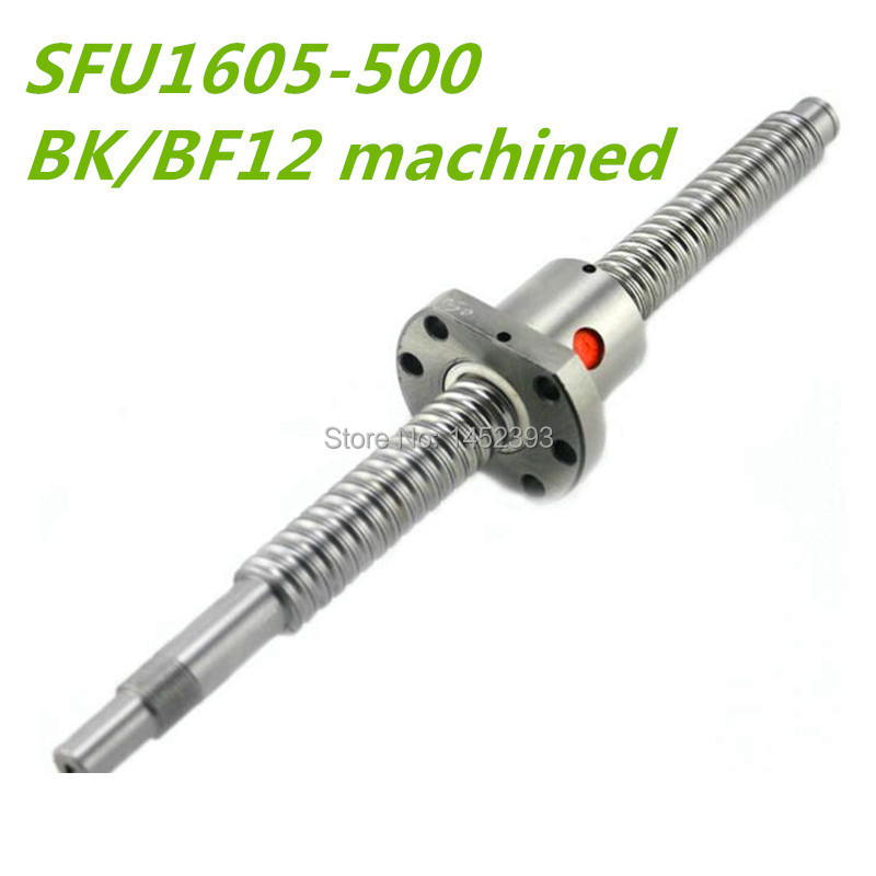 Free Shipping SFU1605 500mm RM1605 500mm Rolled Ball screw 1pc 1pc ball nut for SFU1605