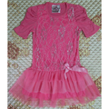 Free Shipping Retail 2-5T Girl Beautees brand Pink and Blue Color Cotton Summer Dress