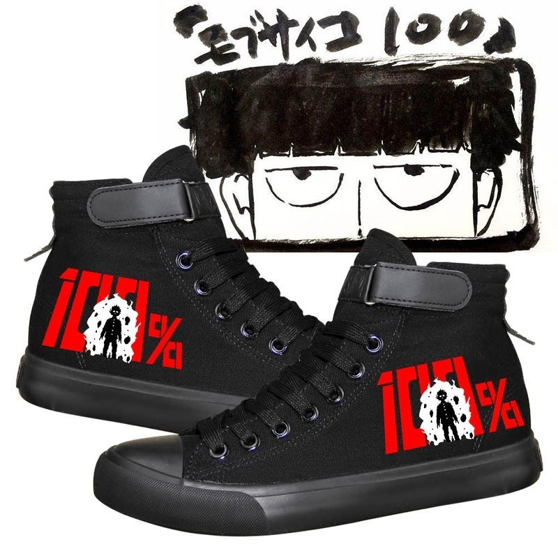 Anime Mob Psycho 100 Handmade Cosplay Shoes Boots Casual Adult Unisex Mobu Saiko Hyaku Mob Costume Canvas Shoes in Shoes from Novelty Special Use