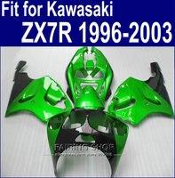 Metallische grüne Verkleidungen Für Kawasaki ninja ZX7R 1996 1999 1998 2001 2002 2003 (anpassen freies) 96 03 new verkleidung kit a57