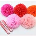 1 unids 10 pulgadas (25 cm) Tissue Paper Pompones de Flores pompón Besos Bolas de Decoración del Partido Festivo suministros de La Boda Favores