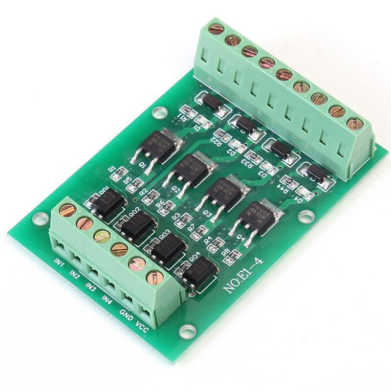 4 Canaux Relais Module FET à Effet de Champ Tube Module NMOS FR1205 DC 5-24 V Driver Solénoïde Avec optocoupleur Isolement