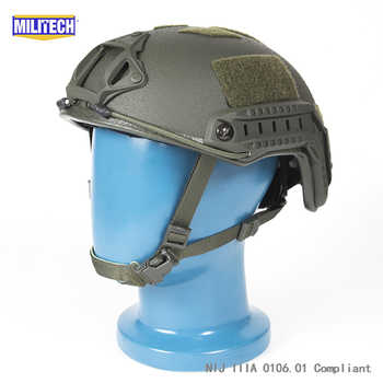 ISO Certified MILITECH 1.25KG Lite OD Super High Cut Aramid Ballistic Helmet Light Weight SWAT Bulletproof Helmet DEVGRU SEAL - DISCOUNT ITEM  0% OFF All Category