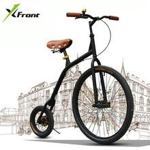 Новый бренд городской Ретро велосипед углеродистая сталь большое и маленькое колесо Велоспорт Bicicleta синий/зеленый/белый/черный Велосипедный спорт