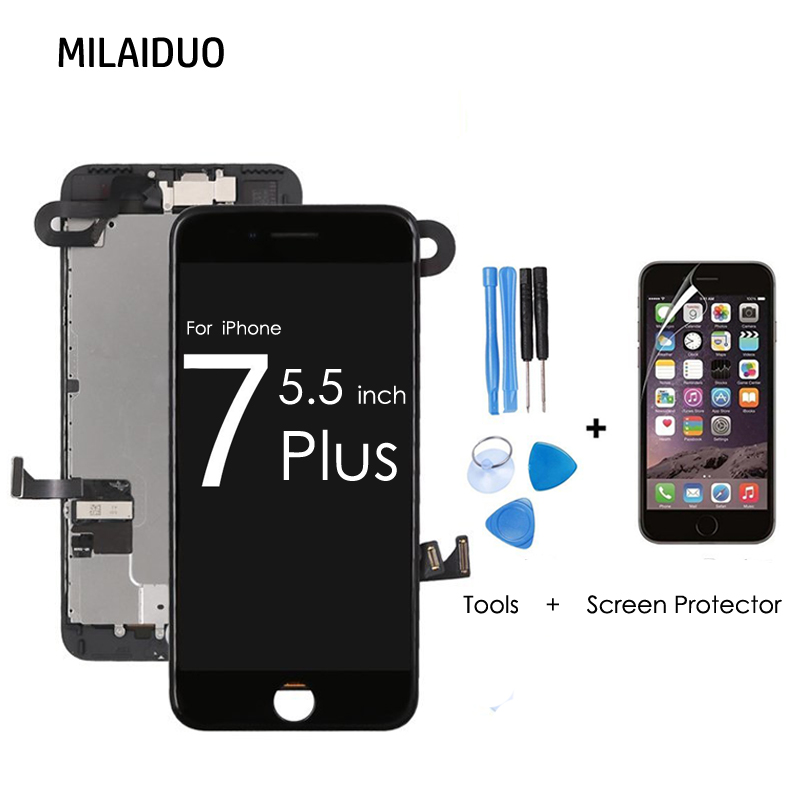 Lcd-Display Digitizer Assembly-Replacement Touch-Screen Front-Camera iPhone for 7-Plus