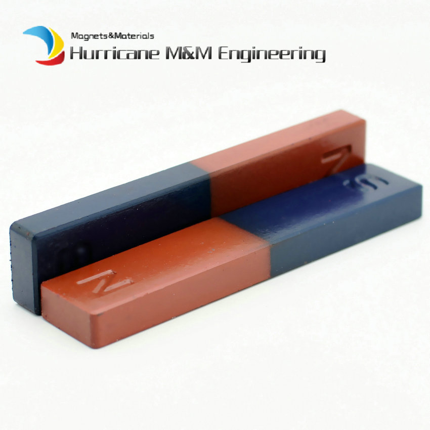 Magnetic Bar N S Student Magnet Bar Type 110x22x10 mm Blue Red Experiment Teaching Toy Magnet Pupil Use 2-60pcs chatterbox pupil s book 2