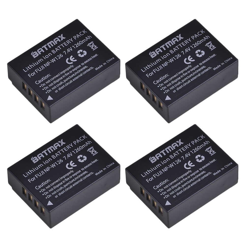 4Pcs 1260mAh NP-W126 NP W126 NP-W126S W126S סוללה + LED כפול מטען לfuji X-Pro1 XPro1 X-T1 XT1, HS30EXR HS33EXR X PRO1