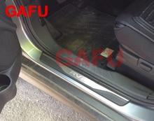 Car Door Sills Sticker for Mitsubishi ASX RVR Stainless steel Door Sill Scuff Plate Car Accessories For ASX RVR 2017 2010 2016 car stainless steel door sills scuff plate fit for 2017 hyundai solaris hatchback sedan dual tone door sills