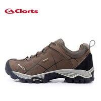 New Clorts Men Hiking Shoes Nubuck Climbing Shoes Waterproof Outdoor Trekking Shoes Genuine Leather Mountain Shoes