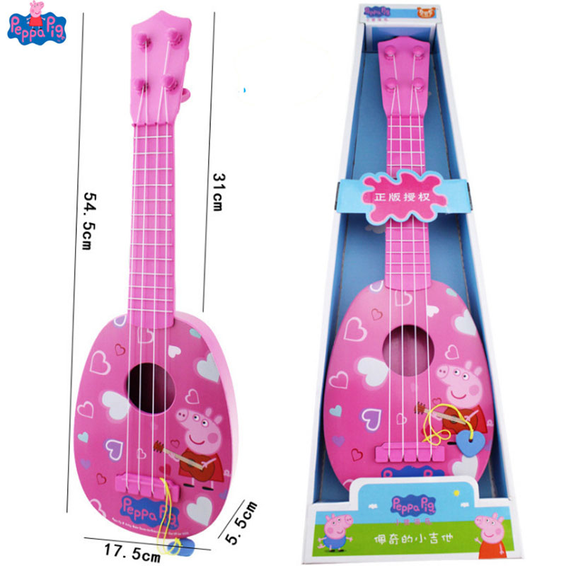 New Arrival Genuine 55cm/22 Peppa Pig George Children Musical Instruments Ukulele Guitar Education Toy Gifts For More 6Y KidsNew Arrival Genuine 55cm/22 Peppa Pig George Children Musical Instruments Ukulele Guitar Education Toy Gifts For More 6Y Kids