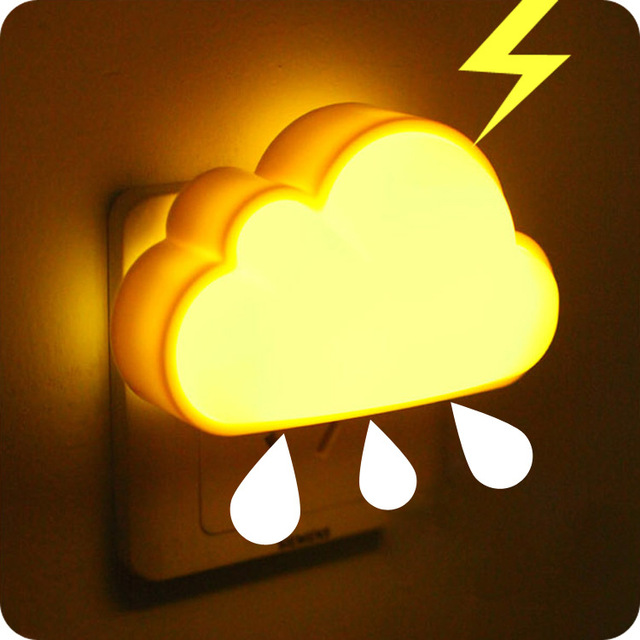 Clouds and light control led night light sensor light energy saving lamps creative bedside lamp baby baby night li