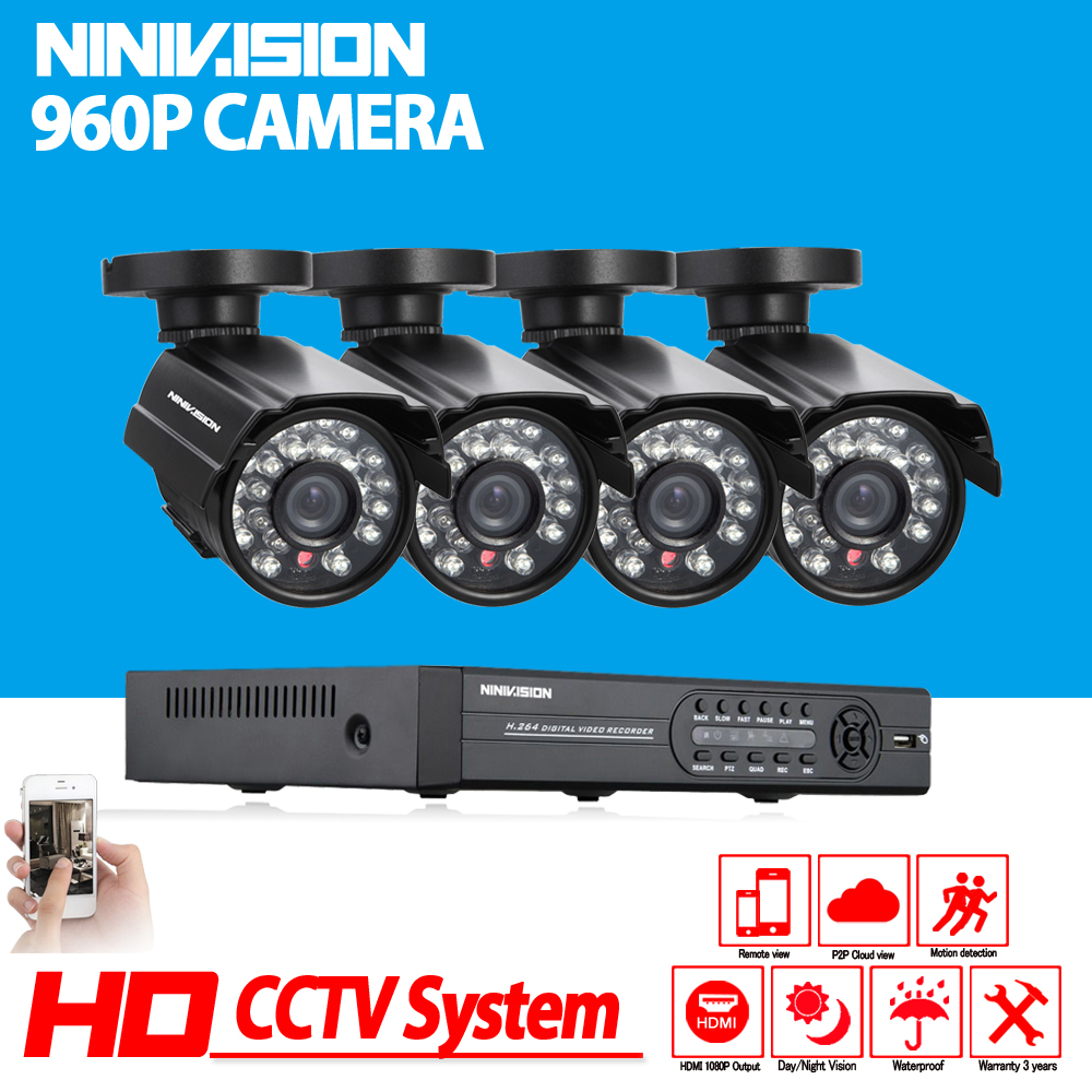 Full HD 1080P CCTV security system 4CH 1080P AHD-NH DVR kit 4*1.3mp 960P Outdoor video surveillance security camera kit WIFI DVR hlby good deal 17 mini ukelele ukulele spruce sapele top rosewood fretboard stringed instrument 4 strings with gig bag 2