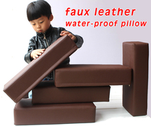 Water-proof  Faux Leather Pillow Massage Table Cushion Medical Treatment Foam Stuffed Neck 45x20x10cm
