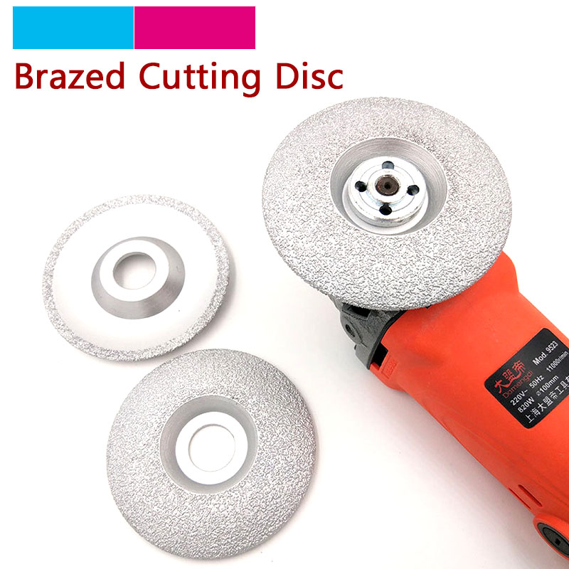 1pcs 4/5 inch Vacuum Brazed Diamond Cutting Grinding Disc Cutter Shaping Polishing Stone Glass Ceramics Grinding Wheel 125/100mm