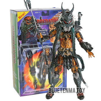 NECA Predator Kenner Leader Clan chief Action Figure Collection Model Toy Christmas Gifts predator concrete jungle figure