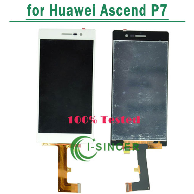 ФОТО 10/PCS black white For HuaWei Ascend P7 LCD Screen Display with Touch Digitizer Assembly free dhl
