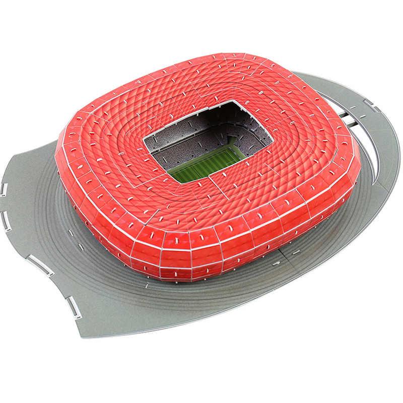 Classico Puzzle di Modelli 3D Di Puzzle Germania Monaco di Baviera di Gioco del Calcio di Stadi FAI DA TE Chiarisca Il Mattone Giocattoli Bilancia di Carta Set di Concorrenza
