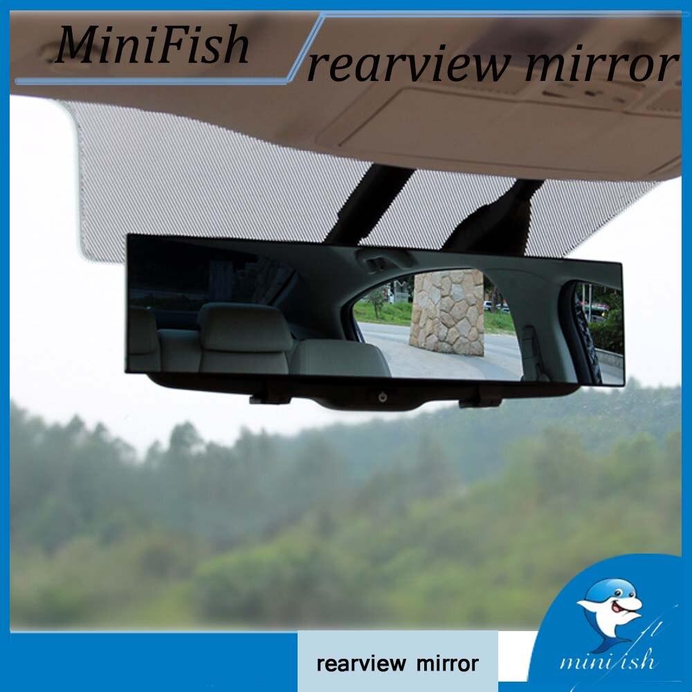 300mm Grande Vision Auto Preuve Vue Arrière Miroir Angle Panoramique Anti-éblouissant Voiture Rétroviseur Intérieur Miroir