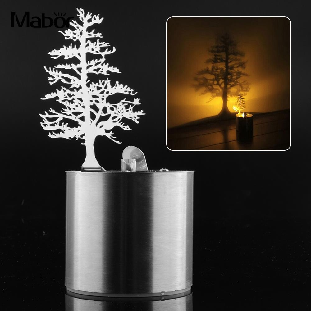 Shadow Pine Tree Projection Lamp Romantic Light LED Candle Home Desktop Decor modern holand tulip pendant lights fixture lustre home luminaire suspension pendant lamp dinning room kitchen lustres de sala