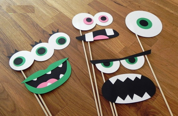 Monster Photo Booth Prop set party wedding birthday