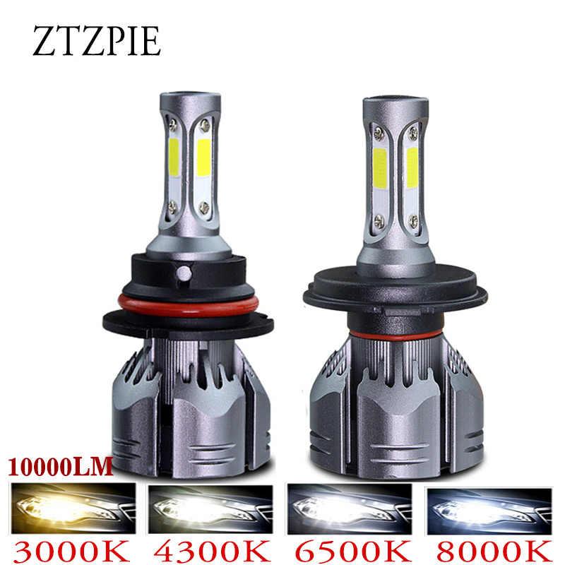 ZTZPIE H3 3000K 4300K 5000K 6000K 8000K 10000LM 12V Car Turbo 3 Sides H4 Led Headlight 9005 H1 9007 9006 H11 H7 H16EU Auto Bulbs