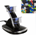 LED Dual USB Powered Charging Dock Stand Charger+6 Silicone Caps Analog Grips Thumbsticks For Sony PlayStation 3 PS3 Controller