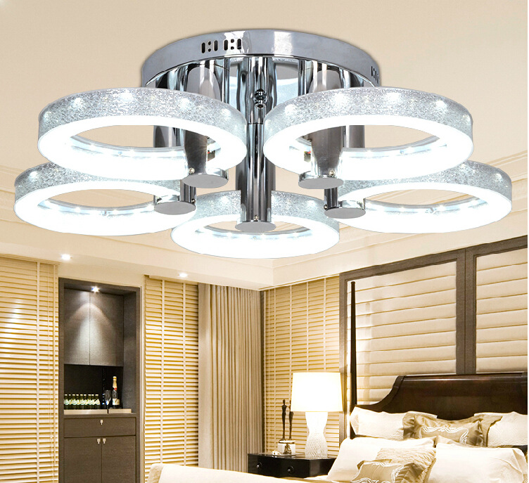 Modern Ceiling Lights Modern Fashion Design Dining Room Lamp Pendente De Teto De Cristal Shade Acrylic Lustre WCL002 noosion modern led ceiling lamp for bedroom room black and white color with crystal plafon techo iluminacion lustre de plafond