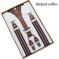 4 Clip Men's Suspenders Men Braces Supports tirantes For Women Elastic Adjustable Pants Straps Clothing 5