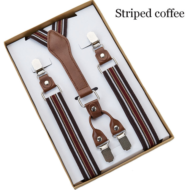 4 Clip Men's Suspenders Men Braces 5