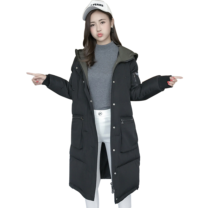 Winter Jacket Women Coat Thick Large Size Cotton Padded Medium-long Parka Hooded Loose Jacket Fashion High Quality TT3304 winter hooded warm medium long parka slim fashion winter coat women large size cotton padded winter jacket overcoat tt3320
