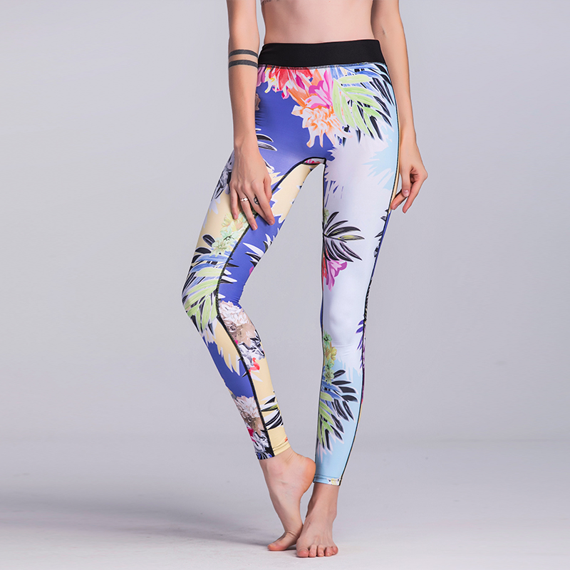 2018 Fashion Women Fitness Leggings Multi Colors Workout Compress Skinny Legging 3D Digital Printed Elastic Waist Stretch Pants
