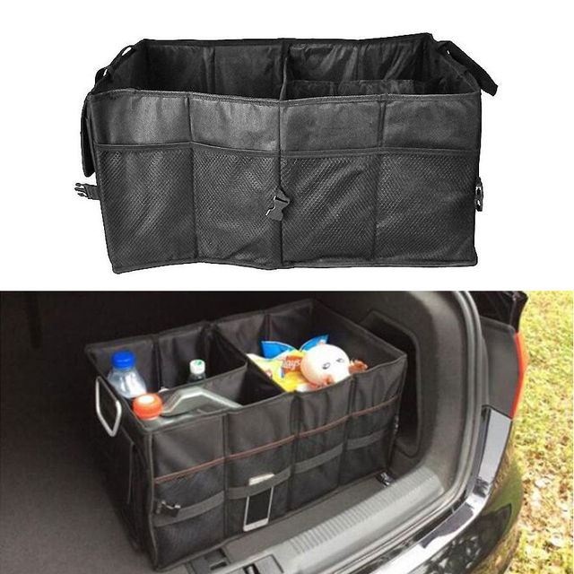 Auto Multifunction Car Rear Trunk SUV Cargo Organizer Foldable