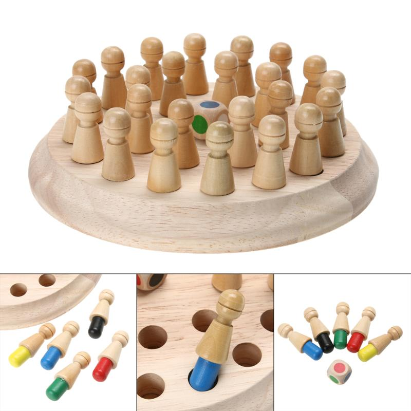 цены Kids Wooden Chess Game Memory Match Stick 3D Puzzle Children Early Educational Toy Family Party Casual Game Puzzles Memory Game