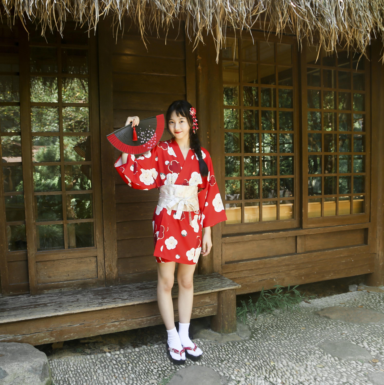 Japon Geisha vêtements dame Cosplay Robe Kimono femmes 2019 Kimonos japonais traditionnel courte Robe Yukata femme Haori avec Obi