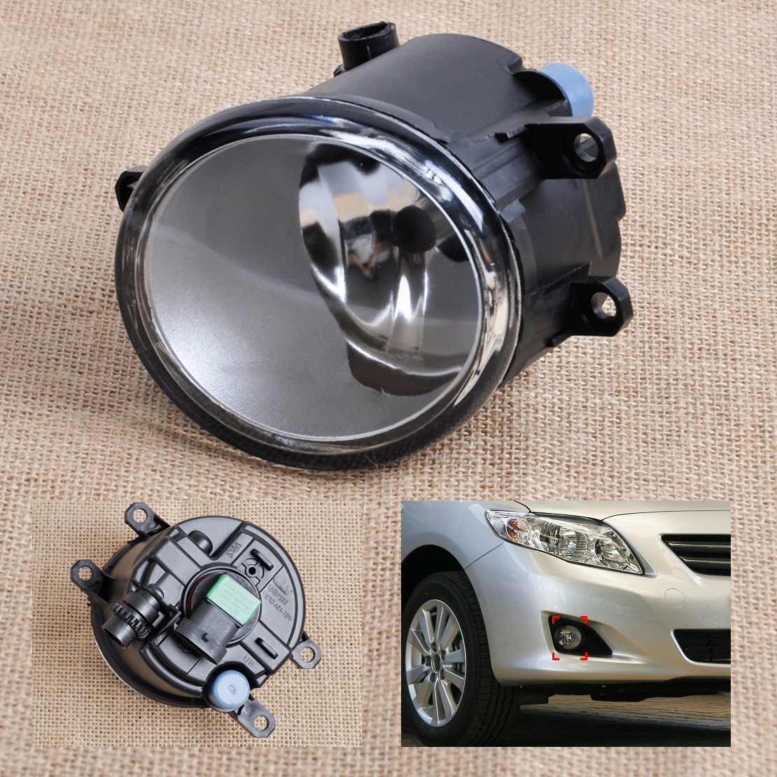 beler Front Right Side Fog light Lamp 81210-06050 35501-57L00 For Toyota Camry Corolla Yaris Lexus GS350 GS450h LX570 LX570 car front bumper fog lamp lights for toyota yaris camry avensis rav4 corolla highlander matrix prius for lexus rx270 lx570