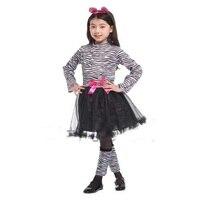 Kinderen Leuke Rok Prestaties Kleding Pretty Zebra Animal Model Voor Cosplay Halloween Kostuums